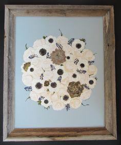 Bridal Bouquet. Succulents. Anemone. Pressed Flower Art. Floral Preservation.  Pressed Bouquet.  Pressed Garden.  Annie Smith.  www.pressedgarden.com