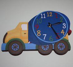 Set of 4 Construction Trucks Boys Bedroom Nursery 8 by ToadAndLily, $20.00