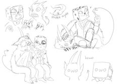 This Dragon really has a Pen., cuphead doodle dump! who am i kidding its just...