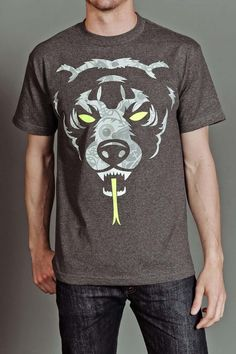 MISHKA OVERSIZED ADDER COLLAGE T-SHIRT CHARCOAL HEATHER @ Jack Threads