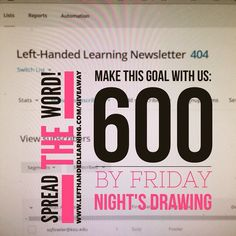 Come and make this goal with us! 600 entries by Friday's prize drawing - we can do it!  http://ift.tt/1I2Nq8T  Updates will be posted in comments and Periscope @edukfun #teach #adhd #edchat #spectrum #autism #add #sat #resources #backtoschool #homeschool #teacherproblems #teaching