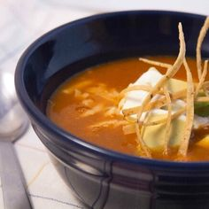 EVERY DAY in December I'm posting a simple Twitter-friendly recipe.  Up next: recipe 4 base of Sopa Azteca - classic SOUP @Frontera_Grill & @topolochicago . Serve w shrdded chick,crema,tort strips  Dry-toast 1 pasilla chile n skillet.Blend w15oz rstd tomato. Cook onion&garlc till soft.Strain in chile mxtr and fry dry. +2qts stock,epazote.
