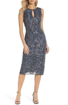 66954ea4848 Great for Pisarro Nights Sequin Lace Sheath Dress (Regular Petite) online.    188.00