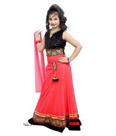 2f0d617296 Ishika Garments Pink Net Lehenga Choli Net Lehenga