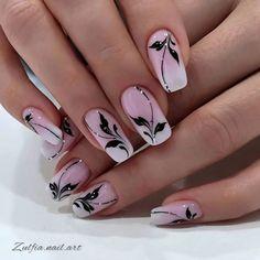 Cute Pink Nails, Cute Acrylic Nails, Gold Glitter Nails, Elegant Nails, Stylish Nails, Trendy Nails, Gel Nail Art Designs, Classy Nail Designs, Bridal Nail Art