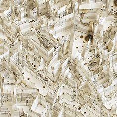 Matthew Picton - Dresden 1945 burnt, detail of Wagner score
