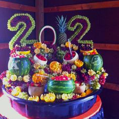 An amazing fruit display for graduation