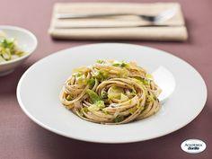 Bavette con catalogna e paté di olive - Dettaglio