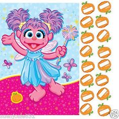 Abby Cadabby Sesame Street Birthday Party Game by LGP. $15.29. From the Sesame Street Abby Cadabby Party Collection. Abby Cadabby Party Game. Includes game sheet featuring Abby Cadabby with a pumpkin. The player that puts their sticker on or closest to the pumpkin wins! Themed after the traditional game of Pin the Tail on the Donkey. The game includes a game sheet that can be easily hung anywhere for play. For 2 or more players. Be sure to have plenty of party ...