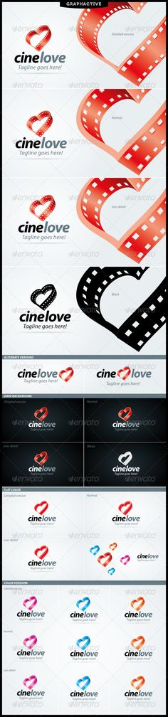 CineLove Logo For Video And Film Business - for movie lovers.