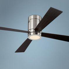 "52"" Casa Vieja® Revue Brushed Nickel - LED Ceiling Fan"