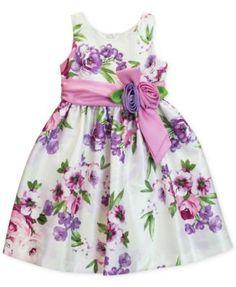 Jayne Copeland Floral Shantung Dress, Toddler and Little Girls (2T-6X) | macys.com