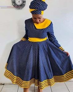 African Party Dresses, Latest African Fashion Dresses, African Dresses For Women, African Attire, African Women, Xhosa Attire, African Outfits, Ankara Fashion, Pedi Traditional Attire