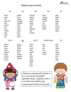 Palabras para dictado by Olga Martínez via slideshare