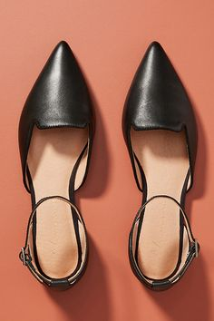 Benson D'Orsay Flats by Anthropologie in Black Size: 11 W, Fall Flats, Wide Width Shoes, Victoria Dress, Victoria Beckham, Character Shoes, Ankle Strap, Anthropologie, Fashion Accessories, Dance Shoes