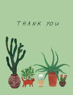 cactus roundup thank you card.
