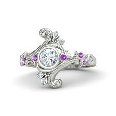 Round Yellow Sapphire Rose Gold Ring with Pink Sapphire & London Blue Topaz - Flamenco Ring Yellow Gold Rings, Silver Rings, Rose Gold, Just In Case, Just For You, Platinum Diamond Rings, Black Diamond, Black Onyx, Sapphire Rings