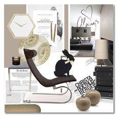 """The black rabbit"" by undici ❤ liked on Polyvore featuring interior, interiors, interior design, home, home decor, interior decorating, Kelly Wearstler, Sur La Table, Michael Amini and CALLIGARIS"