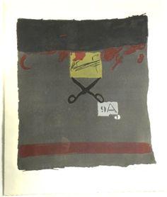 Artist: Antoni Tàpies,  title: Estisores 2,  technology: Etching, aquatint and carborundum