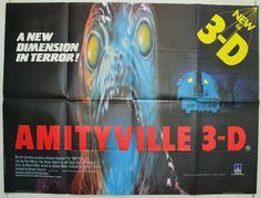 Amityville 3-D - Original British Quad Movie Poster