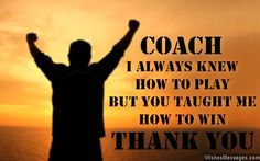 farewell notes to coaches - Google Search