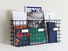Wall Mounted Three Compartment Mail Basket Letter Holder Black Metal Tagway Home http://www.amazon.com/dp/B013HEHWPQ/ref=cm_sw_r_pi_dp_oc3uwb0C50Y7Z