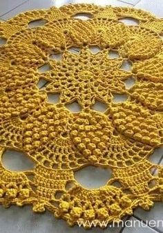 This Pin Was Discovered By Freeform Crochet, Crochet Motif, Crochet Doilies, Crochet Lace, Free Crochet, Crochet Potholders, Crochet Flower Patterns, Crochet Flowers, Crochet Waffle Stitch