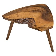 The Exchange Int George Nakashima Walnut Plank Footstool or Table   From a unique collection of antique and modern tables at https://www.1stdibs.com/furniture/tables/tables/