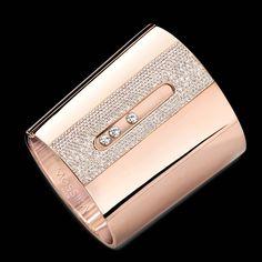 Brazalete en Oro Rosa y Diamantes | Diseñado por MESSIKA.-