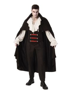 Elegant Count Dracula Vampire Men/'s Halloween fancy Dress Costume Set with HAT