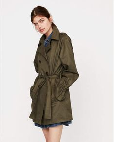 Womans Green Spring trench coat