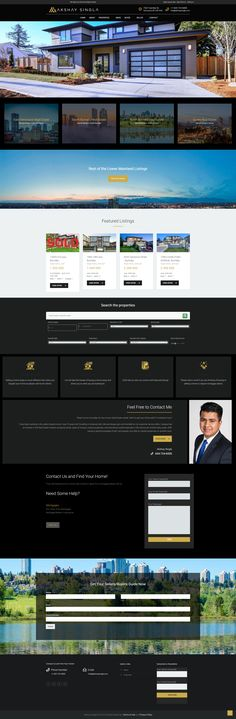 New website for Realtor Akshay Singla using the WordPress CMS. Real Estate Site, Desktop Screenshot, Wordpress, Website