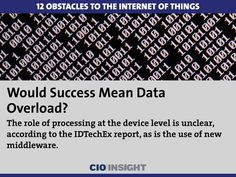 12 Obstacles to the Internet of Things: Would Success Mean Data Overload?