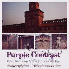 Efeito Photoshop: Purple Contrast Free Photoshop Action