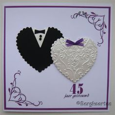 Bergkaarten: 45 jaar getrouwd Make Your Own Card, How To Make, Painted Rocks Kids, Cross Stitch Flowers, Anniversary Cards, Wedding Cards, Diy And Crafts, Card Making, Greeting Cards