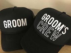 Groom Groom's Crew Bachelor Hats  Bachelor Party Guys