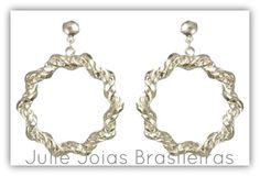 Brincos argola em prata 950 (950 silver  hoop earrings)