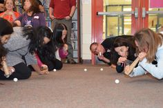 How fast can your team move ping pong balls 25-feet with 4 tubes, 5 straws and 2 balloons? And yes - no touching the ping pong balls. Team Manager Cafe 2012 Training - NH Destination ImagiNation Photos - New Hampshire's Incredible Creativity Connection NHICC