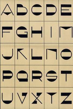 Font, 1920′s