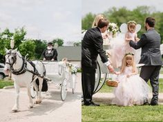 Carriage Ride to the Ceremony // Rachel and Robert's Pretty, Rustic-Inspired Wedding at the Ellis House Equestrian Center » Two Birds Photography