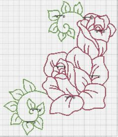 Crochet Owls, Crochet Doily Patterns, Rose Embroidery, Hand Embroidery Stitches, Cross Stitch Rose, Cross Stitch Flowers, Cross Stitch Designs, Cross Stitch Patterns, Hawaiian Quilts