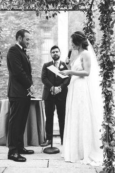 REAL WEDDING INSPIRATION | Finery: Carol Hannah L'Elysee, Geode Druzy Sash, custom headpiece, Ruffle My Feathers Shortie, Heritage Cathedral Veil | Photographer: Jenn Emerling