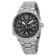 fa6871c6a13c Men's Citizen AT9010-52E Eco-Drive Stainless Steel World Time A-T Watch |  eBay