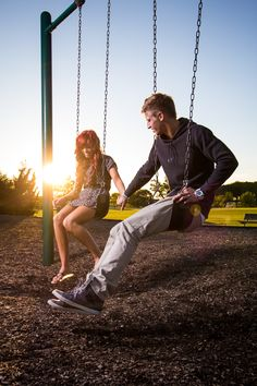 Couples Portrait at the park! Swing set fun :)  iamjohnwhite photography