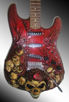 12 of the Scariest, Eeriest or just Plain Weird Custom Guitars