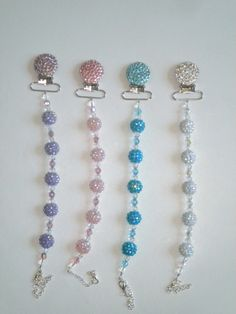 Swarovski Rhinestone Beaded  Bling Pacifier Clip by DiamondCouture, $32.99