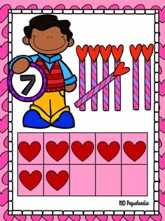 Classroom Decor, Fictional Characters, Decoration, Go Math Kindergarten, Infant Games, Goals, Thoughts, Teaching Aids, Valentines