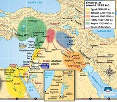 Ancient Near East Empires Map