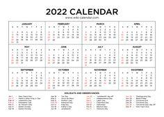 2022 Calendar January February March April, Calendar Printable, 2021 Calendar, Templates, Holidays, Stencils, Holidays Events, Holiday, Vorlage