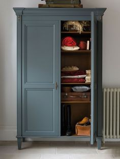 The Nathalie Wardrobe painted dark grey | And So To Bed http://bit.ly/Nathalie_Painted_Wardrobe